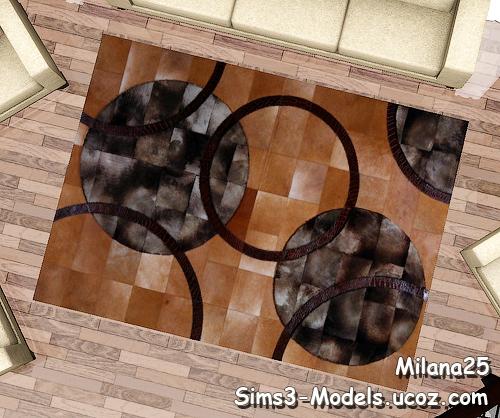 leather carpets кожаные ковры ковер rugs rug Sims3 симс