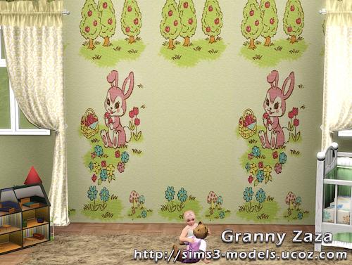Build, patterns, texture, walls, обои для симс 3, Granny Zaza, симс 3, sims3