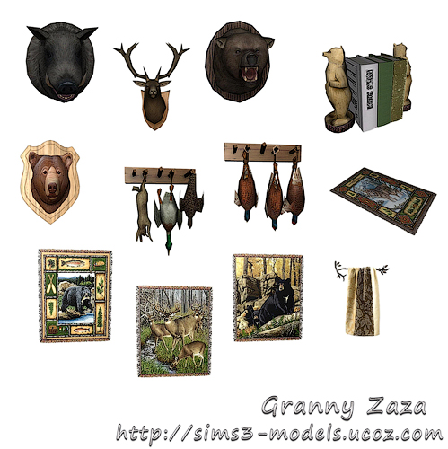 Buy, decor, objects, furniture, шале, объекты, покупка, Granny Zaza, sims 3, мебель, декор