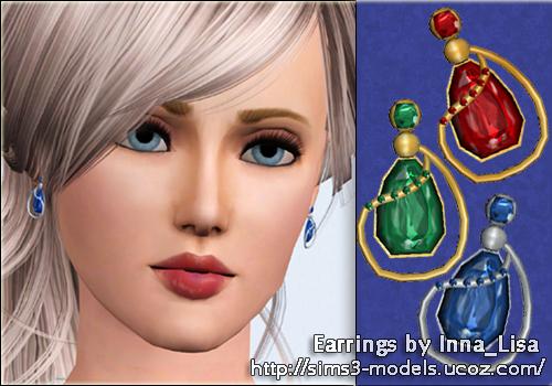 sims3 аксессуары accessories серьги
