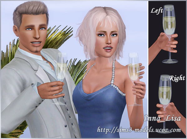sims 3, accessory, Wine glass