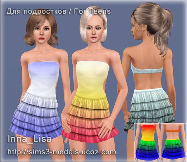 sims 3, dress, платье