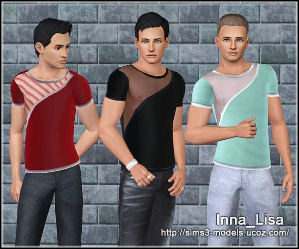 sims3, t-shirt, симс3, мужская одежда