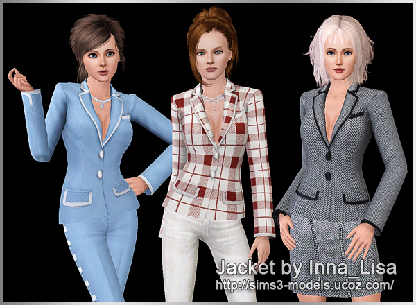 Jacket suit, sims3, жакет, симс3