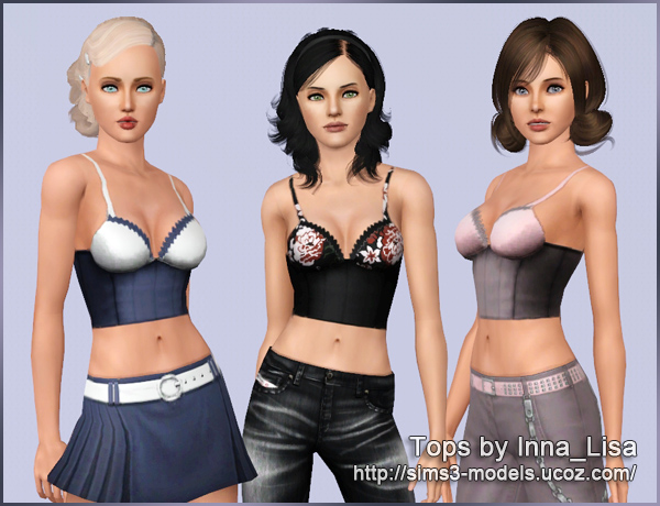 top, sims3, women's Clothing, женская одежда