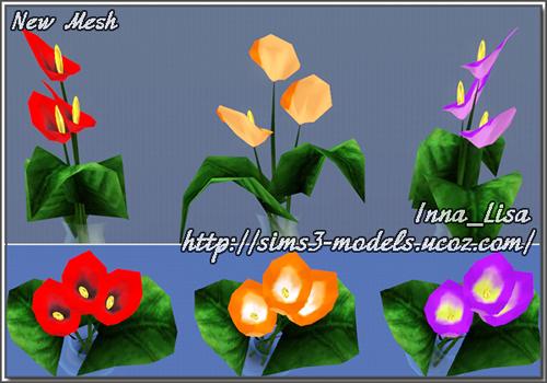 декор, цветы симс 3