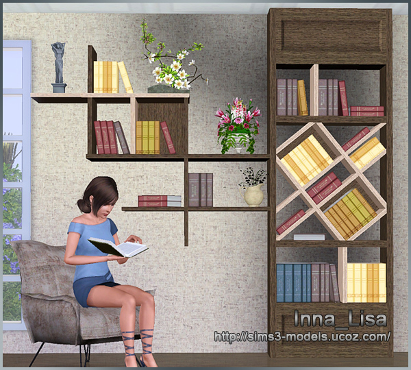 sims3, bookshelf, Furniture, мебель, симс3