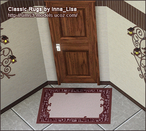 sims3 rugs ковры