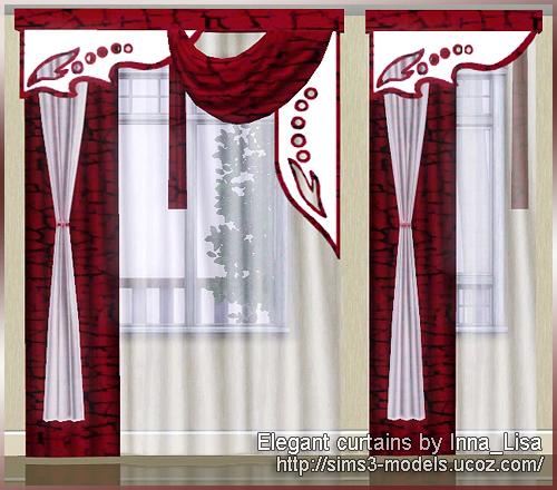 sims3 curtain шторы