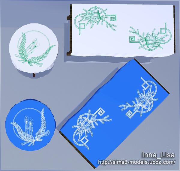 sims3, tablecloth, скатерть