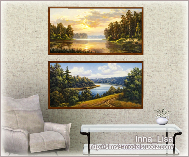 Landscape, картина, Sims3