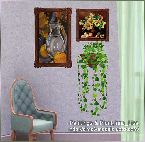 Painting Plant картина растение sims3