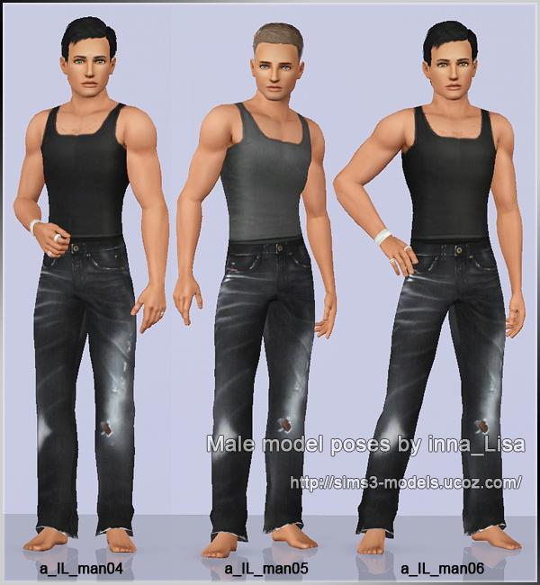 pose, sim3, позы мужские, симс3
