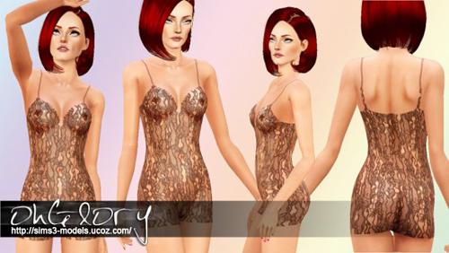 Underwear, sims3, женское белье