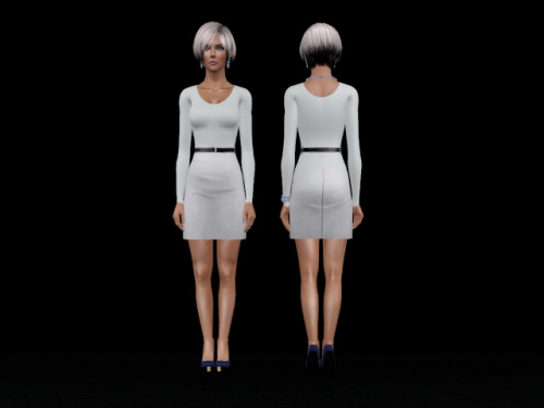 dress sims3, платье