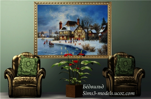 painting, sims3, картина